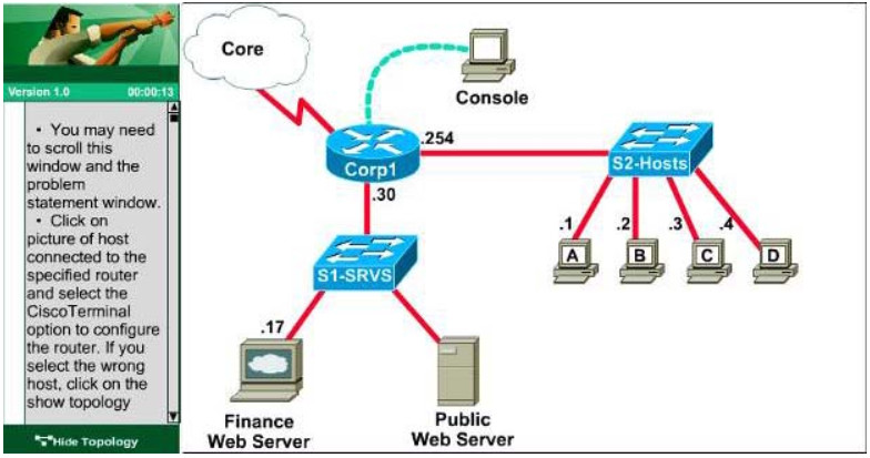 CCNA Certification - Access List Control (ACL-2) Lab Simulation 19