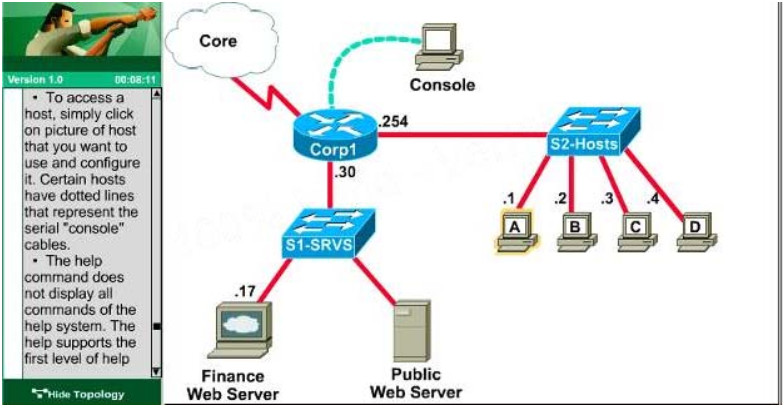 CCNA Certification - Access List Control (ACL-2) Lab Simulation 22