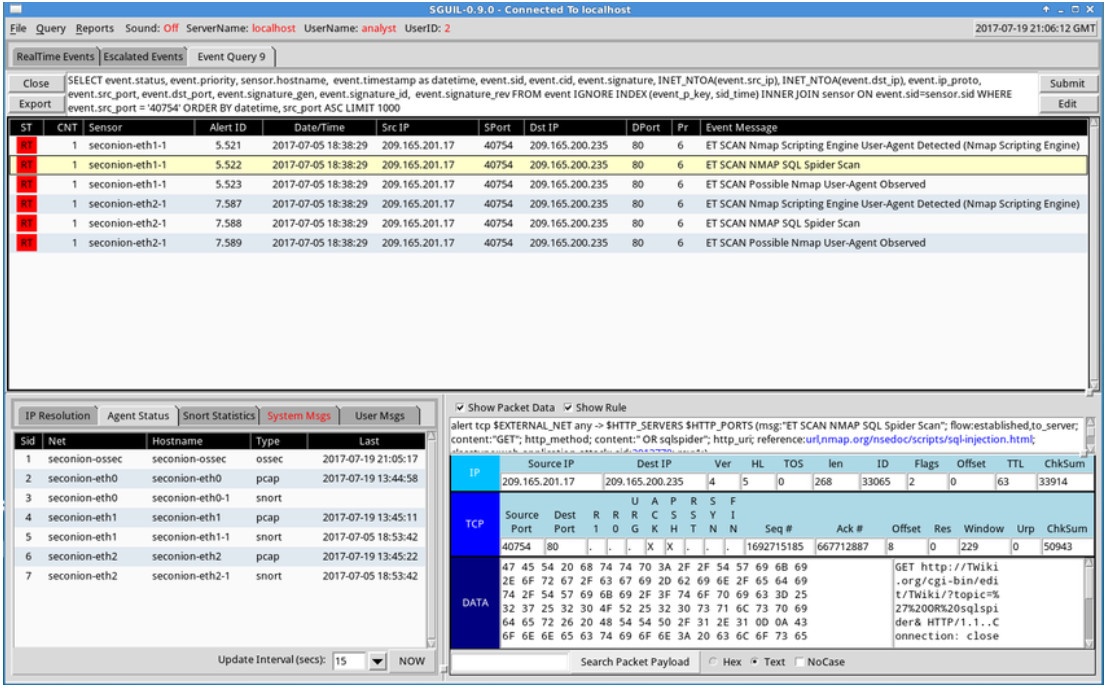 CyberOps Associate: Module 27 – Working with Network Security Data 20
