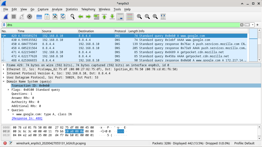 10.2.7 Lab - Using Wireshark to Examine a UDP DNS Capture (Answers) 13