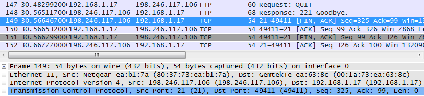 10.4.3 Lab - Using Wireshark to Examine TCP and UDP Captures (Answers) 28