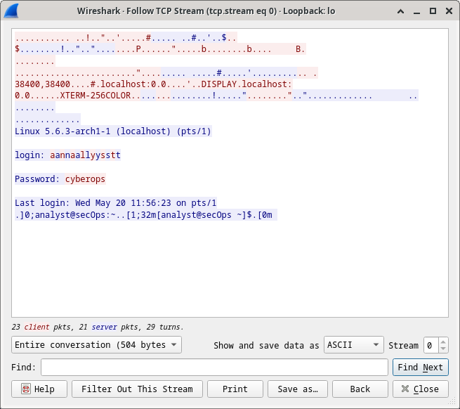 21.2.12 Lab - Examining Telnet and SSH in Wireshark (Answers) 5