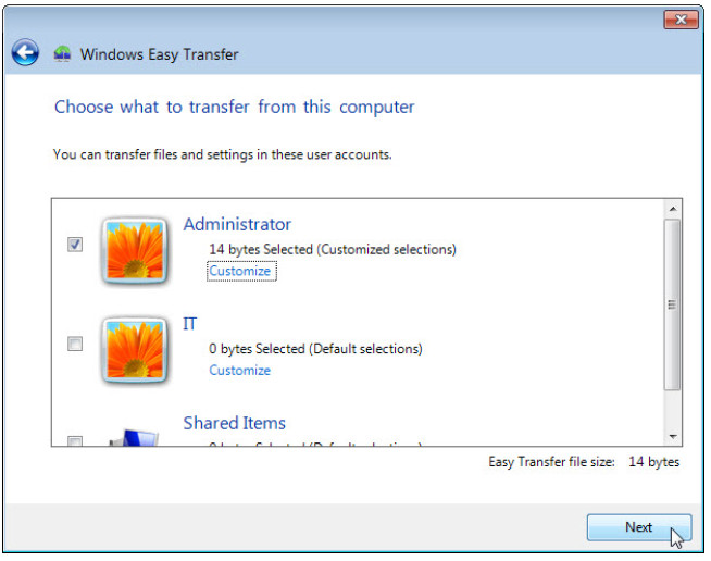 5.1.4.4 Lab – Data Migration in Windows (Answers) 58