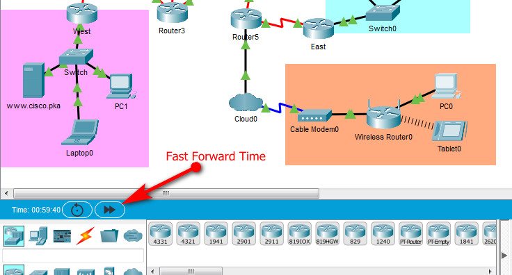 12.1.9 Packet Tracer - Identify Packet Flow (Answers) 3
