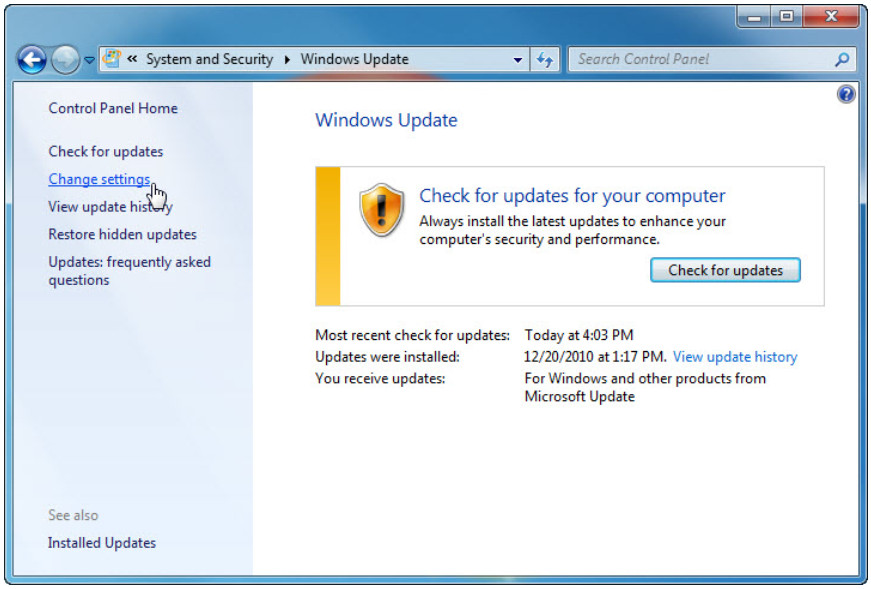 5.2.1.10 Lab - Check for Updates in Windows 7 and Vista (Answers) 8