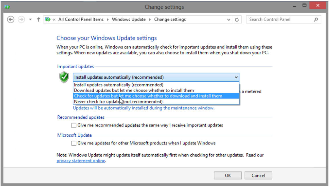 5.2.1.10 Lab - Check for Updates in Windows 8 (Answers) 9