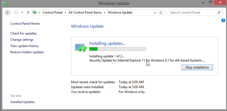 5.2.1.10 Lab - Check for Updates in Windows 8 (Answers) 12