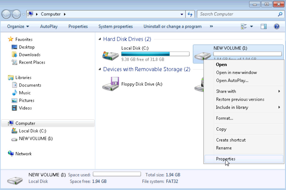 5.2.4.7 Lab - Create a Partition in Windows 7 and Vista (Answers) 30
