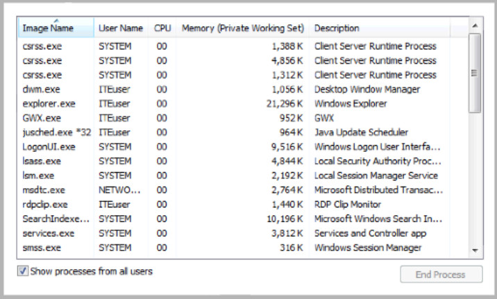 6.1.1.5 Lab - Task Manager in Windows 7 and Vista (Answers) 31