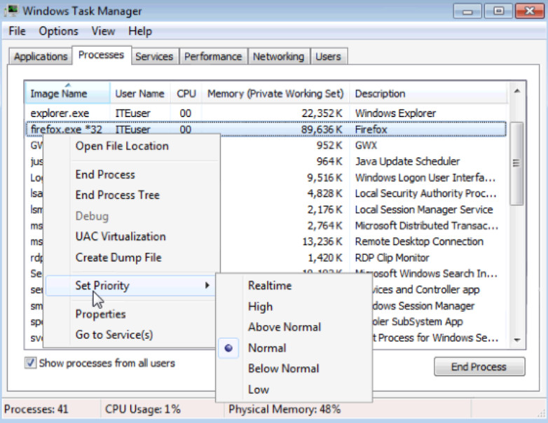 6.1.1.5 Lab - Task Manager in Windows 7 and Vista (Answers) 35
