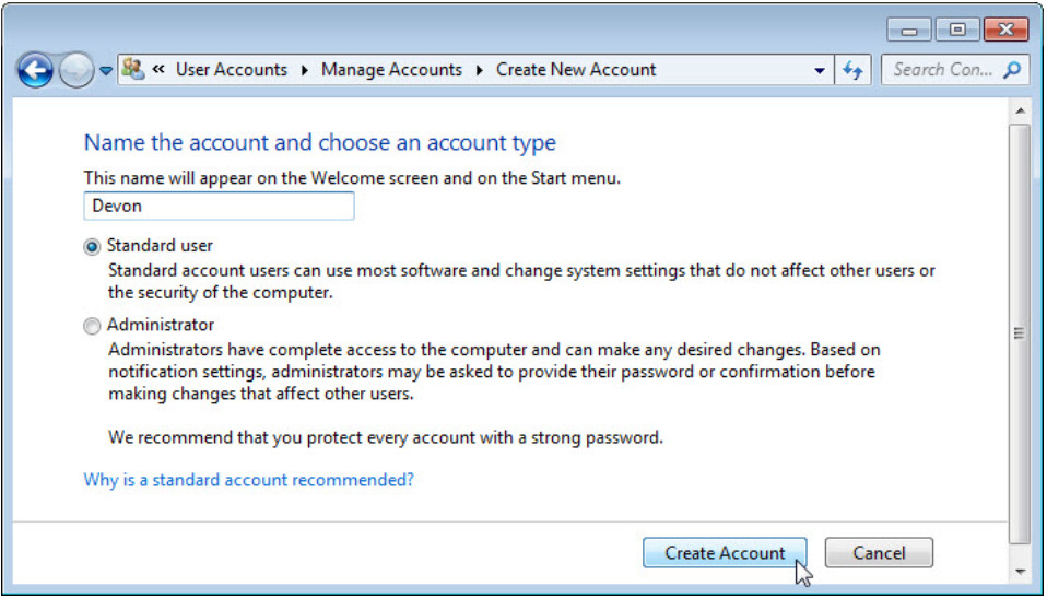 6.1.2.3 Lab - Create User Accounts in Windows 7 and Vista (Answers) 17