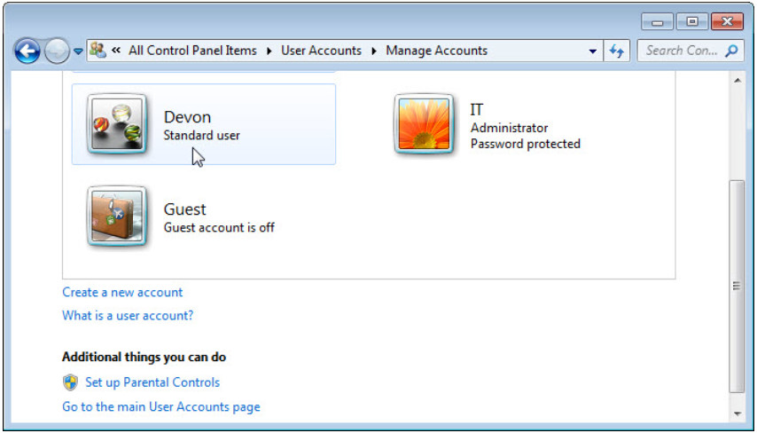 6.1.2.3 Lab - Create User Accounts in Windows 7 and Vista (Answers) 18