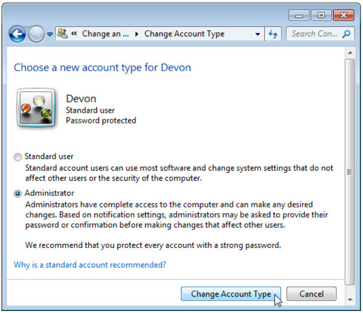 6.1.2.3 Lab - Create User Accounts in Windows 7 and Vista (Answers) 22