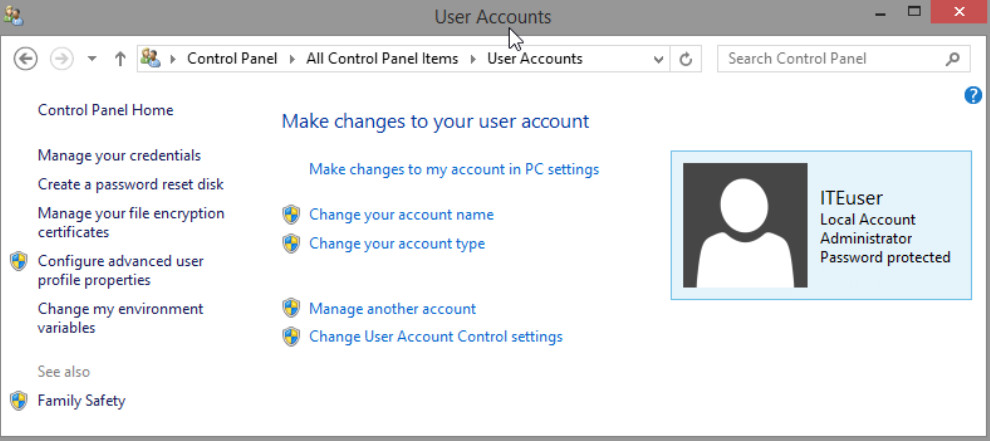 6.1.2.3 Lab - Create User Accounts in Windows 8 (Answers) 30