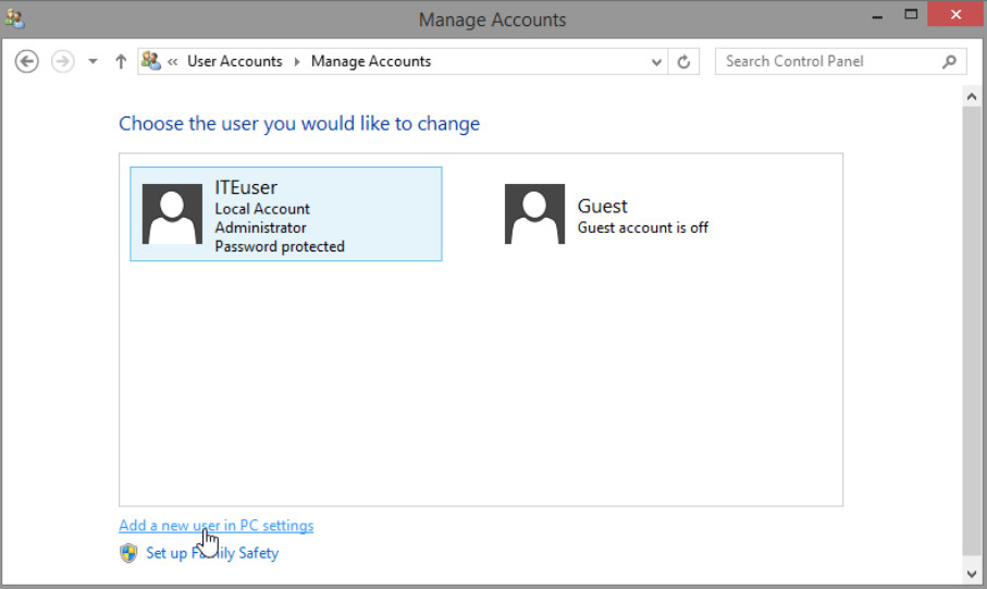 6.1.2.3 Lab - Create User Accounts in Windows 8 (Answers) 31