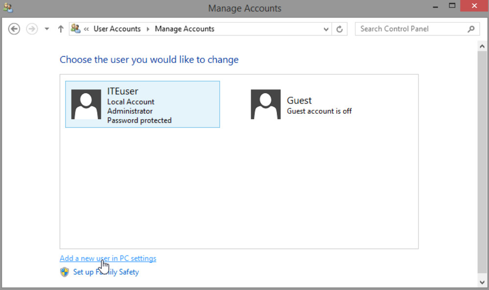 6.1.2.3 Lab - Create User Accounts in Windows 8 (Answers) 44