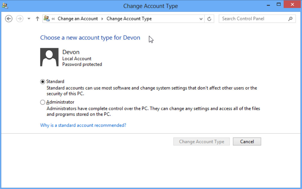 6.1.2.3 Lab - Create User Accounts in Windows 8 (Answers) 53
