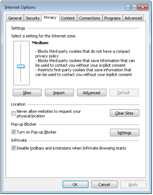 6.1.2.5 Lab - Configure Browser Settings in Windows 7 and Vista (Answers) 29