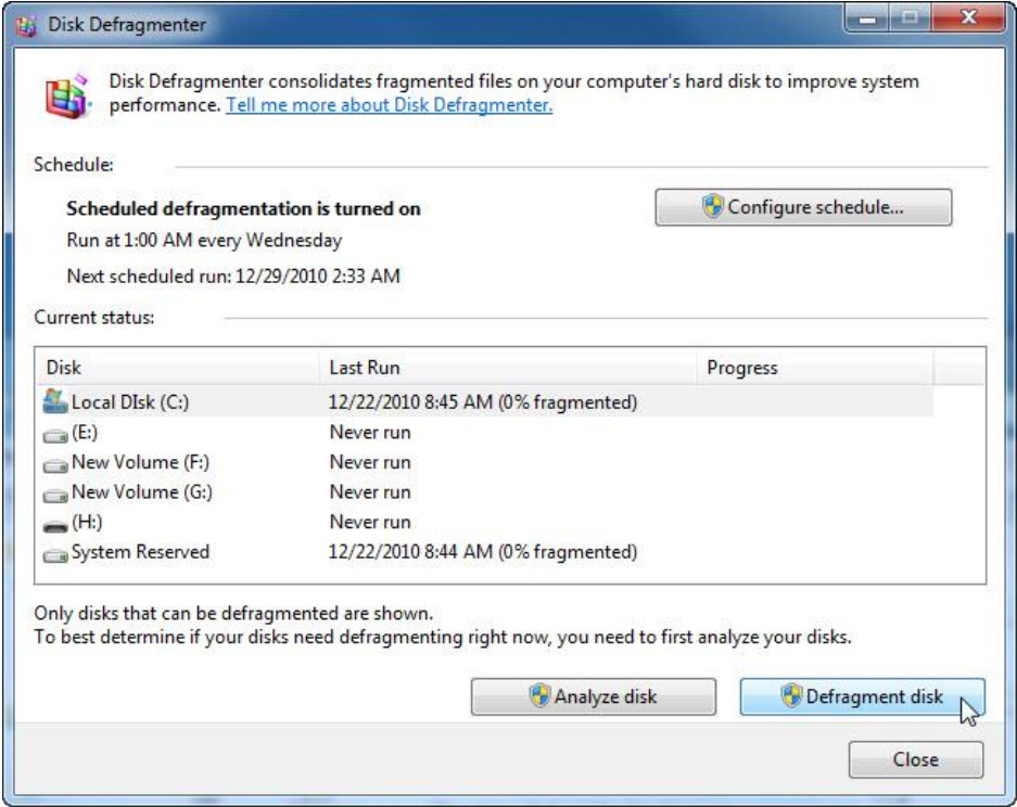 6.1.4.2 Lab - Hard Drive Maintenance in Windows 7 and Vista (Answers) 21