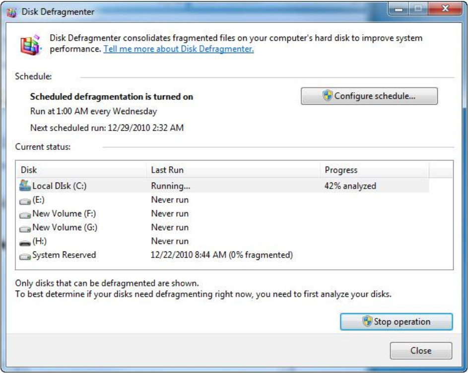 6.1.4.2 Lab - Hard Drive Maintenance in Windows 7 and Vista (Answers) 22