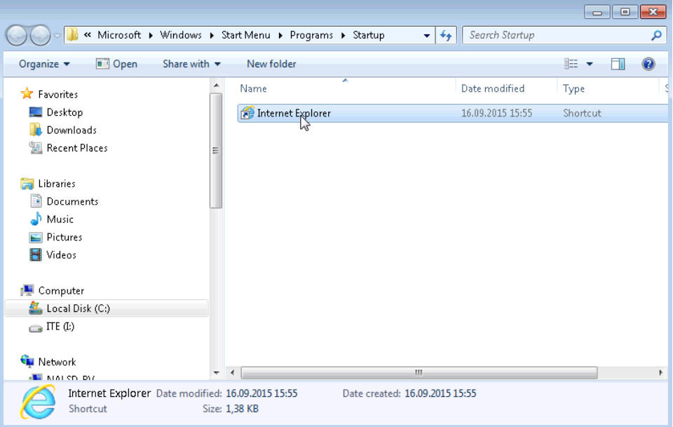 6.3.1.2 Lab - Managing the Startup Folder in Windows 7 and Vista (Answers) 10