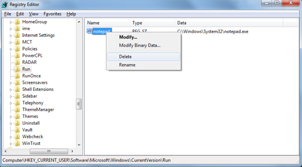 6.3.1.2 Lab - Managing the Startup Folder in Windows 7 and Vista (Answers) 16
