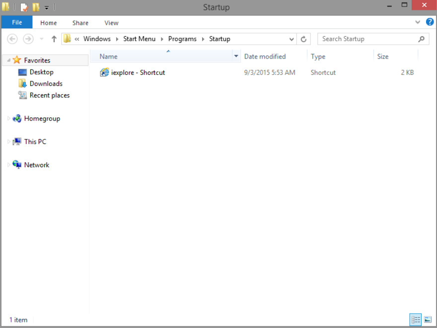 6.3.1.2 Lab - Managing the Startup Folder in Windows 8 (Answers) 21