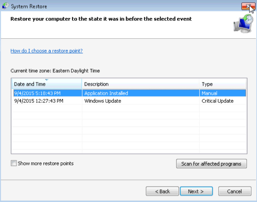 6.3.1.7 Lab - System Restore in Windows 7 and Vista (Answers) 22