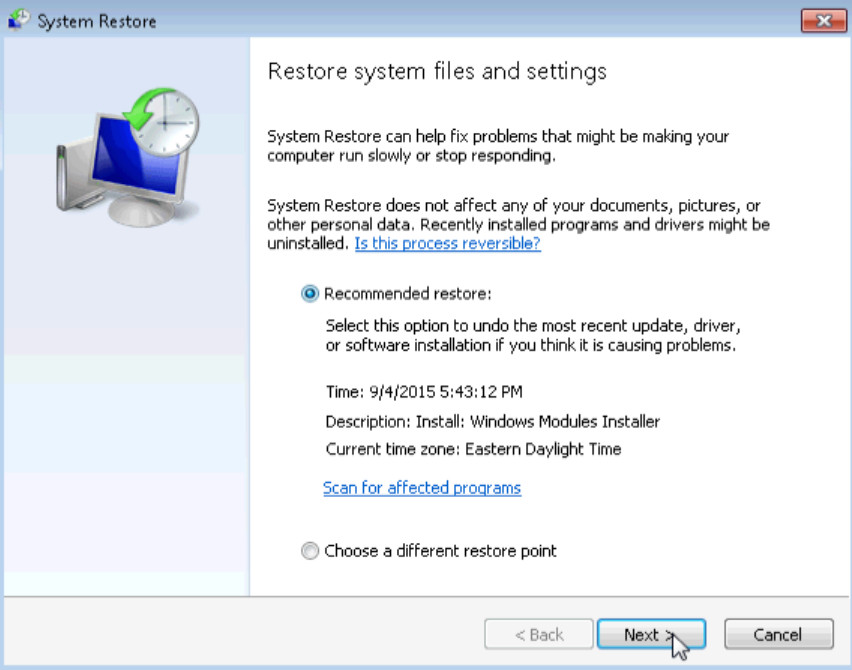6.3.1.7 Lab - System Restore in Windows 7 and Vista (Answers) 29