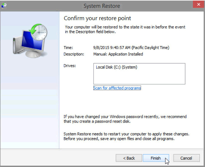 6.3.1.7 Lab - System Restore in Windows 8 (Answers) 34