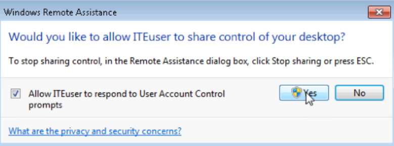 8.1.4.3 Lab - Remote Assistance in Windows (Answers) 44