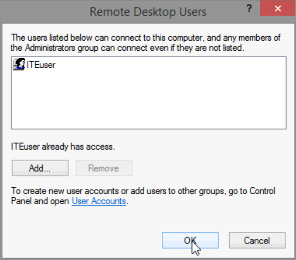 8.1.4.4 Lab - Remote Desktop in Windows 8 (Answers) 29