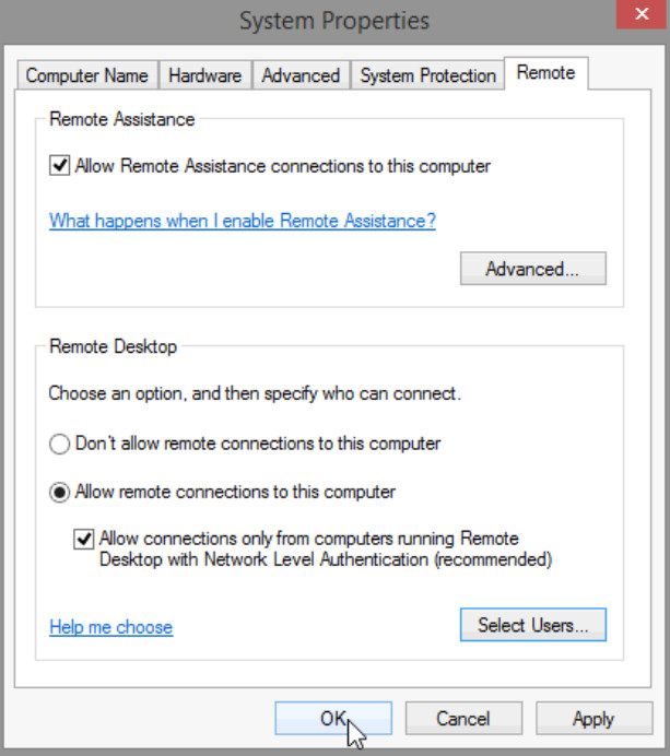 8.1.4.4 Lab - Remote Desktop in Windows 8 (Answers) 30
