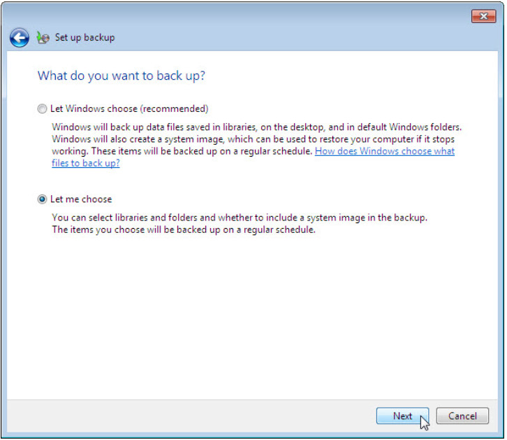12.3.1.3 Lab - Configure Data Backup and Recovery in Windows 7 and Vista (Answers) 43