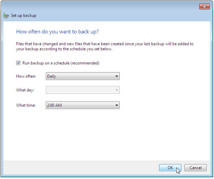12.3.1.3 Lab - Configure Data Backup and Recovery in Windows 7 and Vista (Answers) 47