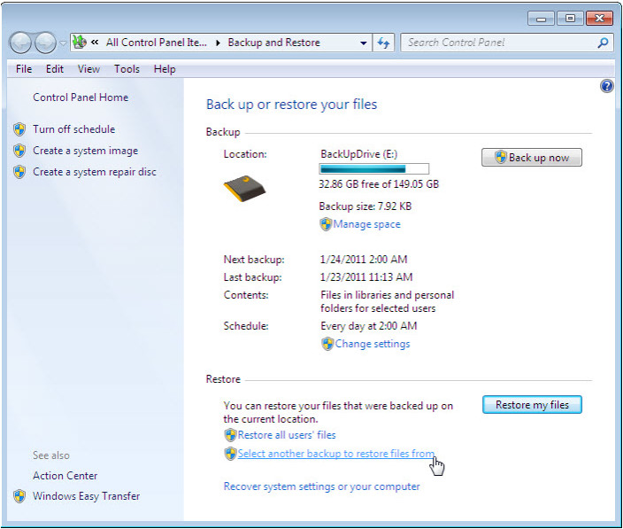12.3.1.3 Lab - Configure Data Backup and Recovery in Windows 7 and Vista (Answers) 51