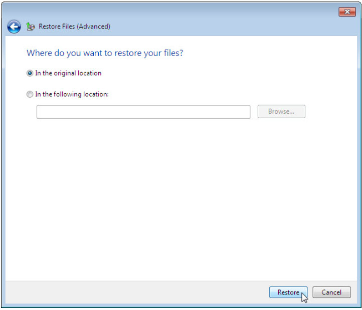 12.3.1.3 Lab - Configure Data Backup and Recovery in Windows 7 and Vista (Answers) 56