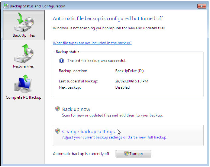 12.3.1.3 Lab - Configure Data Backup and Recovery in Windows 7 and Vista (Answers) 61