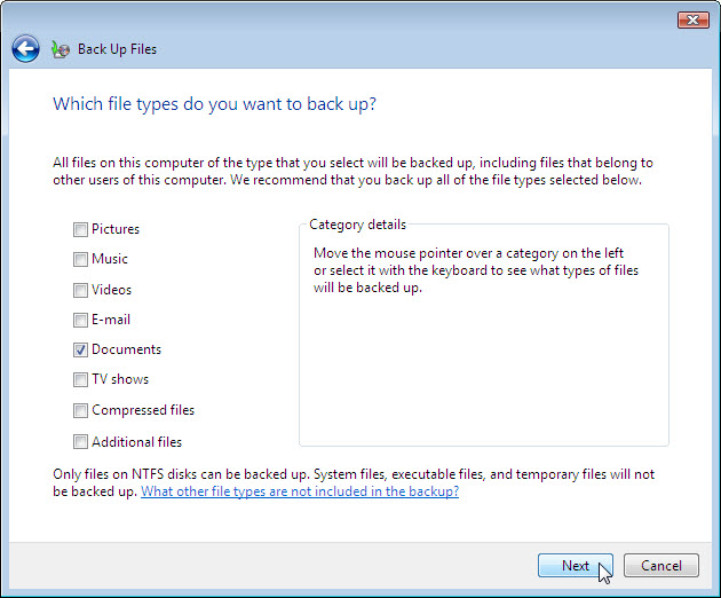12.3.1.3 Lab - Configure Data Backup and Recovery in Windows 7 and Vista (Answers) 63