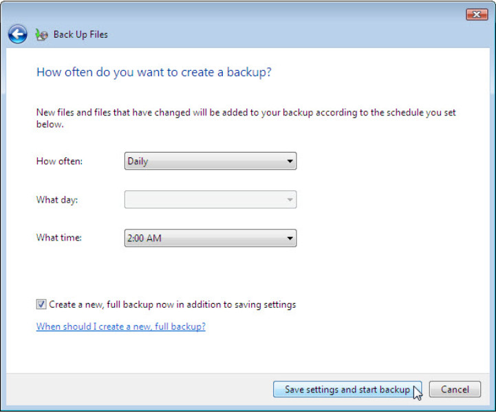 12.3.1.3 Lab - Configure Data Backup and Recovery in Windows 7 and Vista (Answers) 64