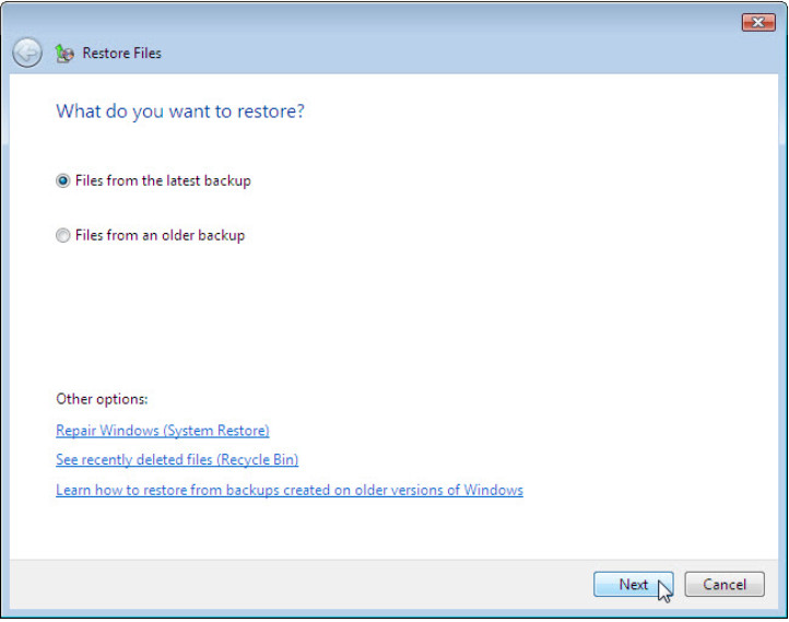 12.3.1.3 Lab - Configure Data Backup and Recovery in Windows 7 and Vista (Answers) 68