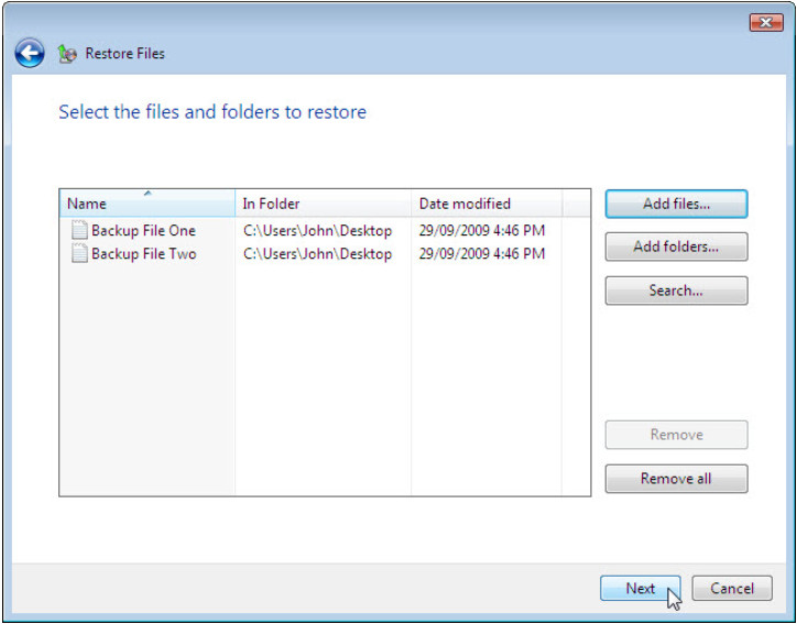 12.3.1.3 Lab - Configure Data Backup and Recovery in Windows 7 and Vista (Answers) 71