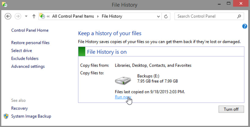 12.3.1.3 Lab - Configure Data Backup and Recovery in Windows 8 (Answers) 19