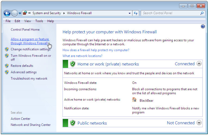 12.3.1.5 Lab - Configure the Firewall in Windows 7 and Vista (Answers) 38