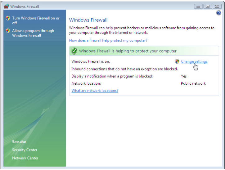 12.3.1.5 Lab - Configure the Firewall in Windows 7 and Vista (Answers) 54