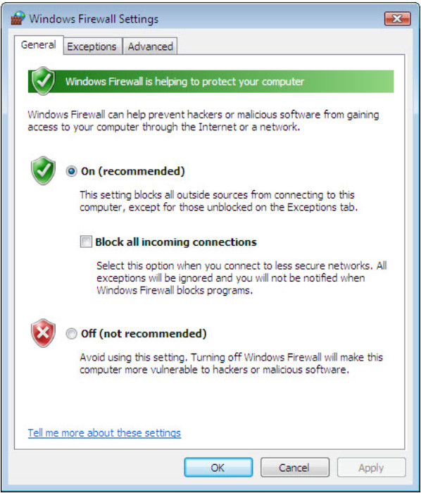12.3.1.5 Lab - Configure the Firewall in Windows 7 and Vista (Answers) 55