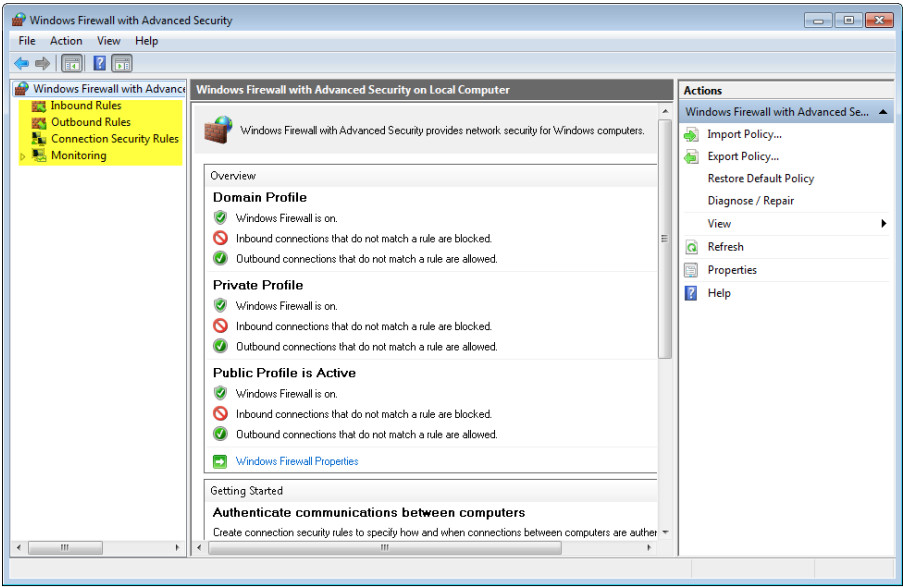 12.3.1.5 Lab - Configure the Firewall in Windows 7 and Vista (Answers) 61
