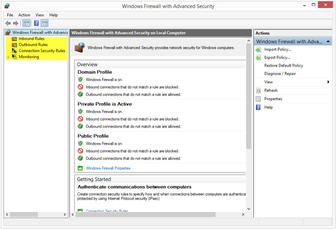 12.3.1.5 Lab - Configure the Firewall in Windows 8 (Answers) 21