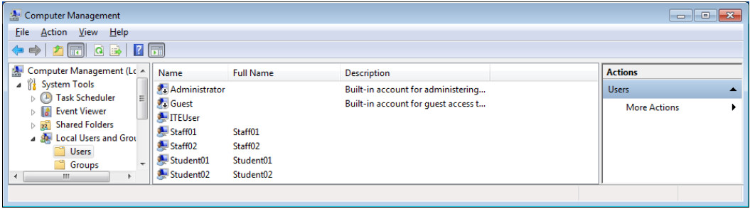 12.3.1.9 Lab - Configure Users and Groups in Windows (Answers) 29