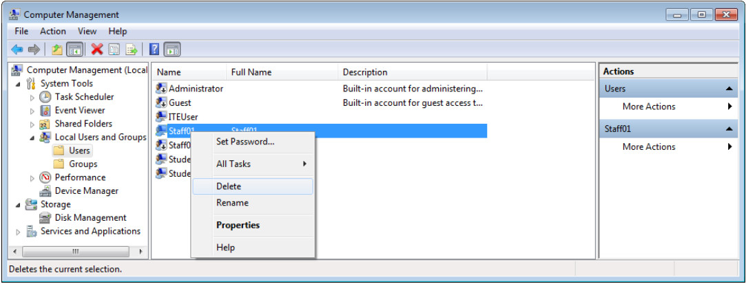 12.3.1.9 Lab - Configure Users and Groups in Windows (Answers) 42